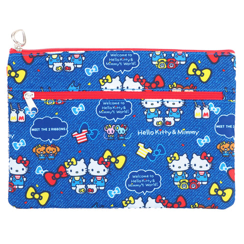 Hello Kitty Double Zipper Pouch 雙層拉鏈袋