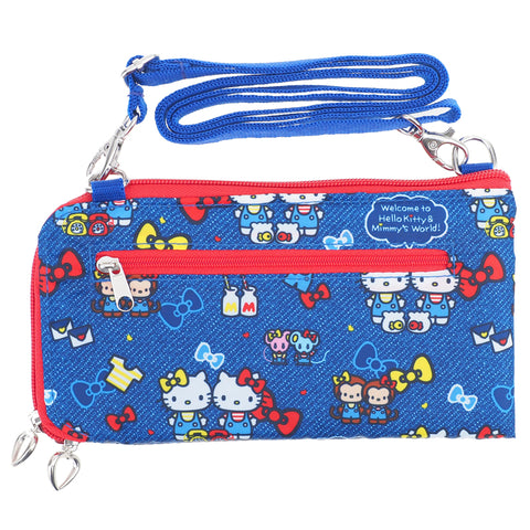 Hello Kitty Long Wallet With Strap 長銀包連可拆式肩帶