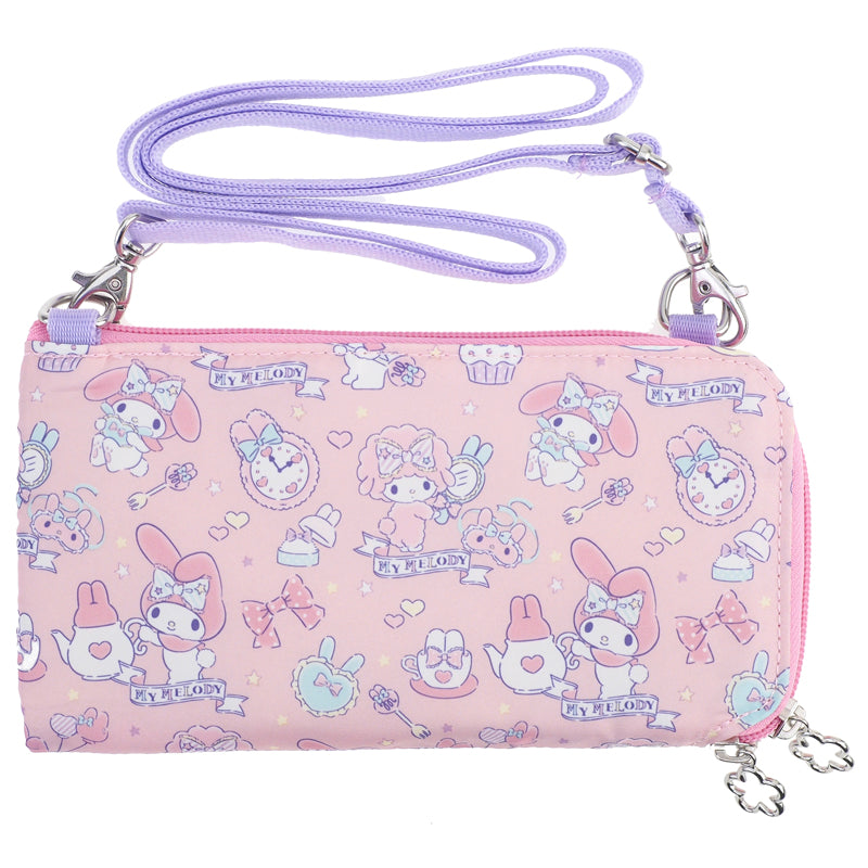 My Melody Long Wallet With Strap 長銀包連可拆式肩帶