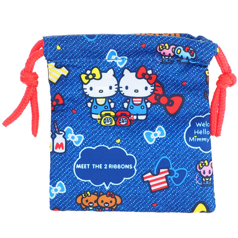 Hello Kitty Eye Mask With String Bag 眼罩附索繩袋