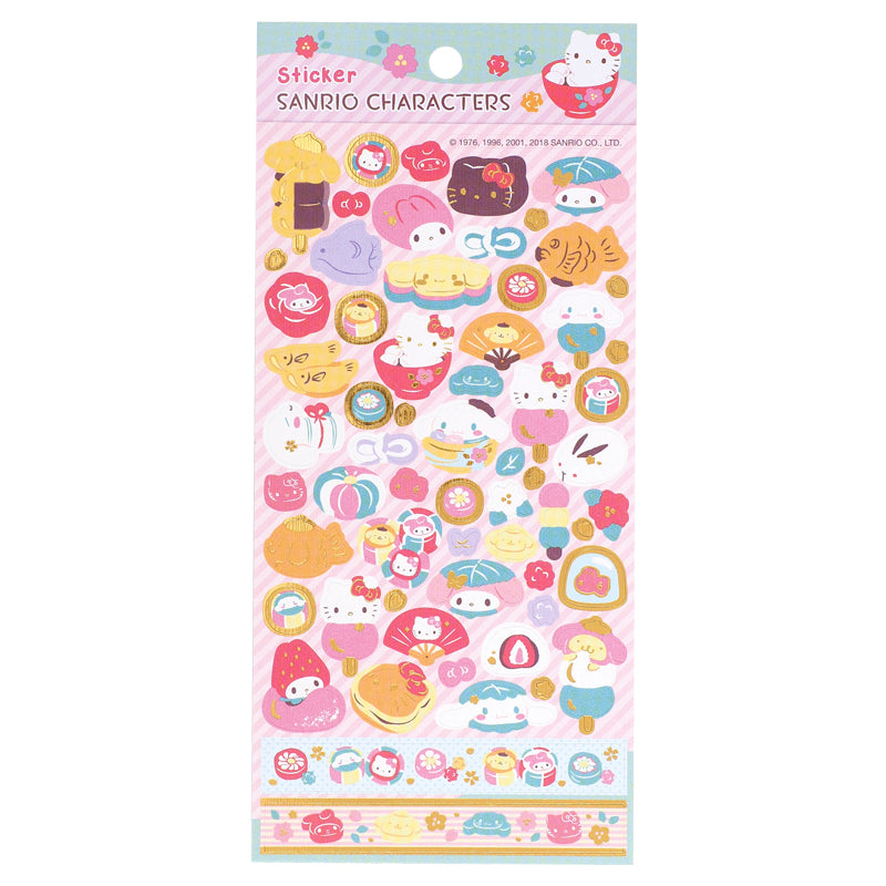 Mix Characters Hot-Stamping Paper Sticker 燙金貼紙
