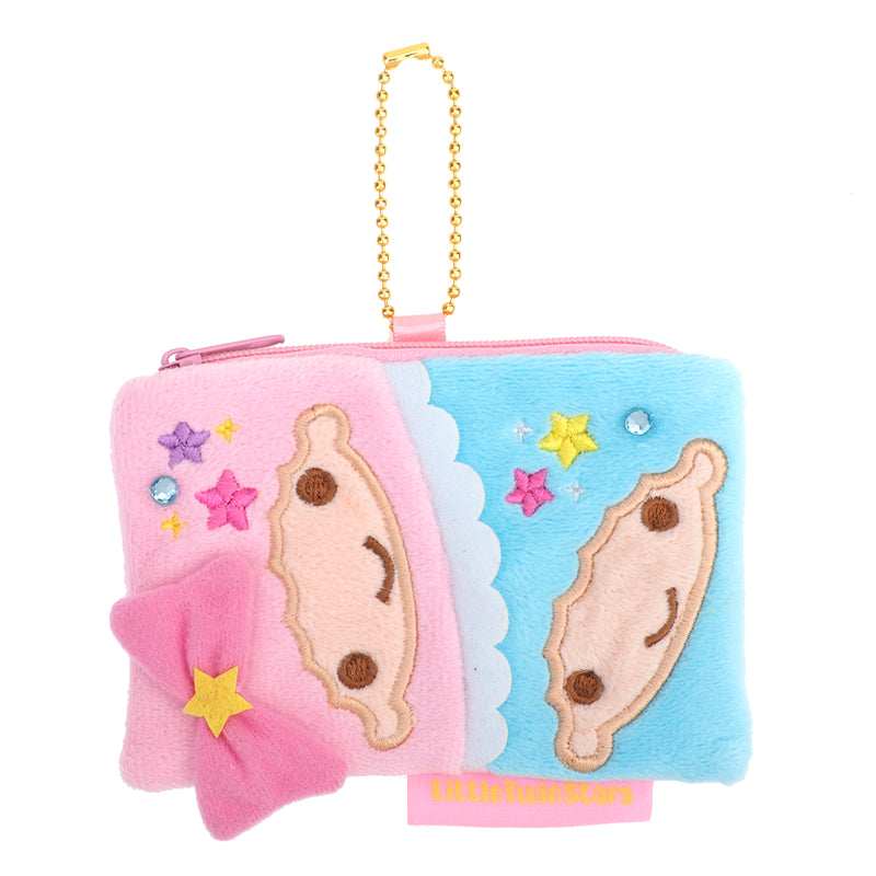 Littl Twin Stars Plush Coin Pouch with Card Slot 毛絨小袋連插格