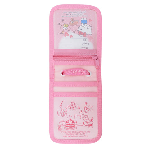 Hello Kitty Laminated Fabric Card Holder with Neck Strap 証件套連頸繩