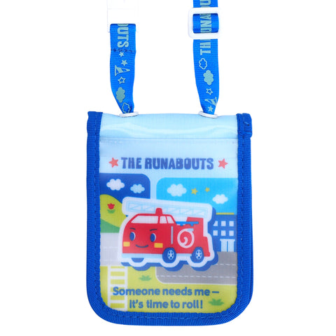 The Runabouts Laminated Fabric Card Holder with Neck Strap 証件套連頸繩