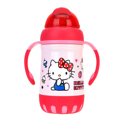 Hello Kitty Stainless Steel Vacuum Bottle W/ Straw 不銹鋼保溫壺連吸管