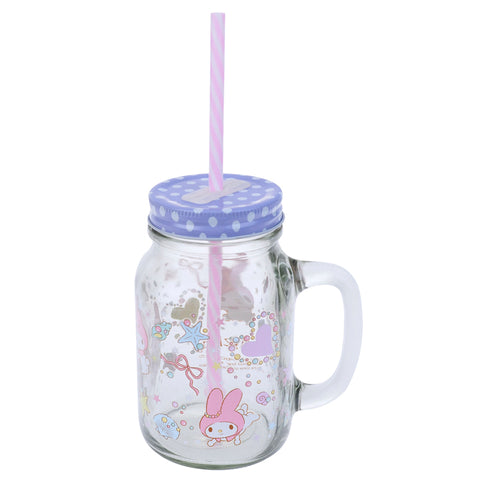My Melody 600ml Mason Jar Mug 玻璃罐水杯