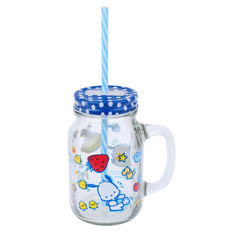 Pochacco 600ml Mason Jar Mug 玻璃罐水杯