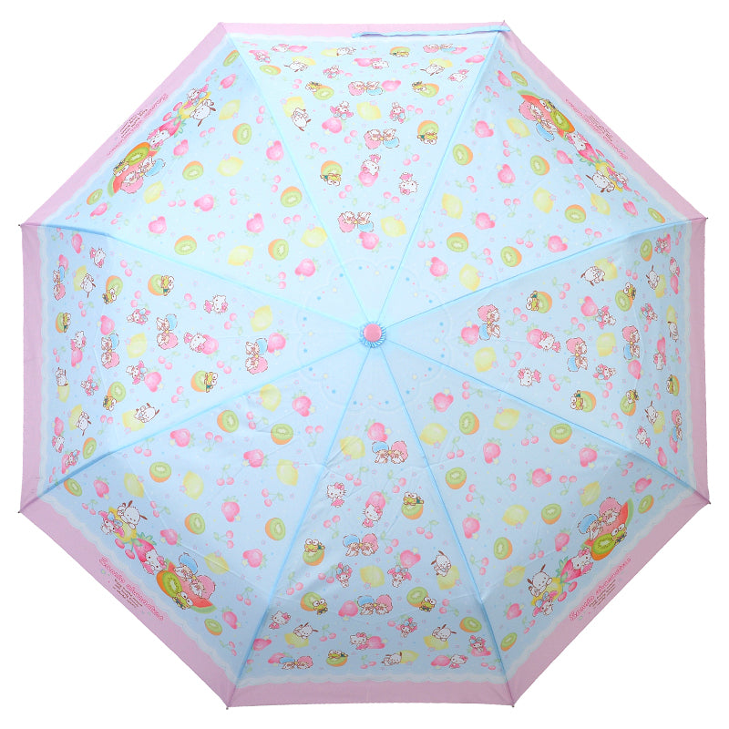 Mix Characters 55CM x 8 Ribs 3-Fold Hand-Open Umbrella w/Tote Bag 三節縮骨雨傘連手挽袋
