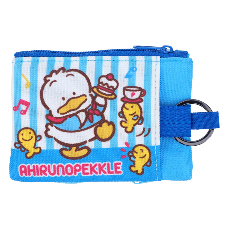 Ahiru No Pekkle Two-Zipper Pouch with Key Ring 雙拉鏈小袋連匙圈