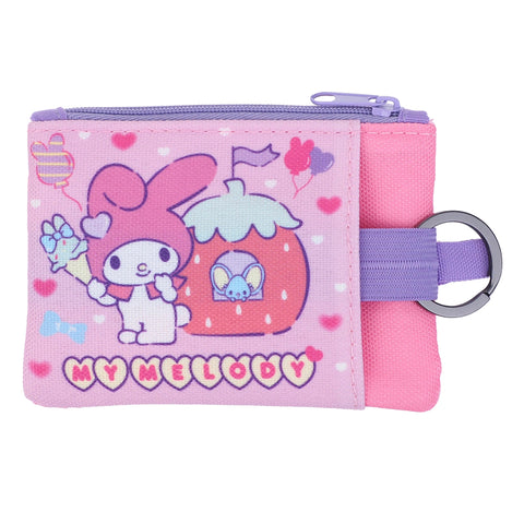 My Melody Two-Zipper Pouch with Key Ring 雙拉鏈小袋連匙圈