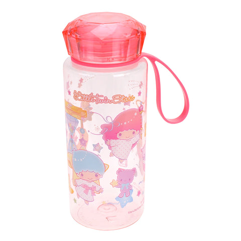 Little Twin Stars 500ml Water Bottle with Crystal Lid & PW Strap 鑽石蓋膠水樽連手帶