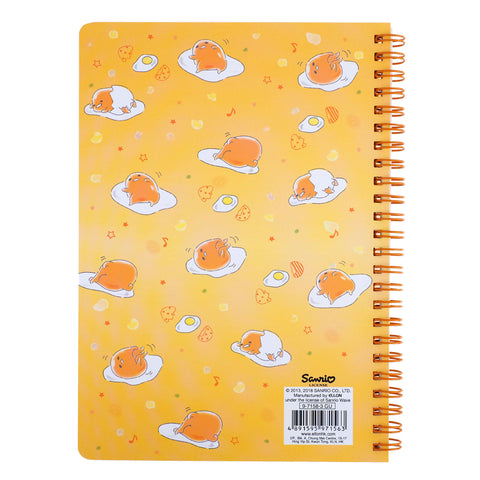 Gudetama Hot-Stamping Wire-O Notebook 燙金線圈簿