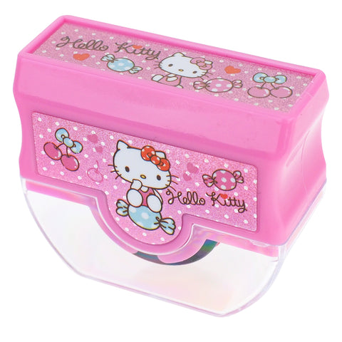 Hello Kitty Laser Sticker Self-Inking Rolling Stamp 鐳射貼紙原子滾動印章