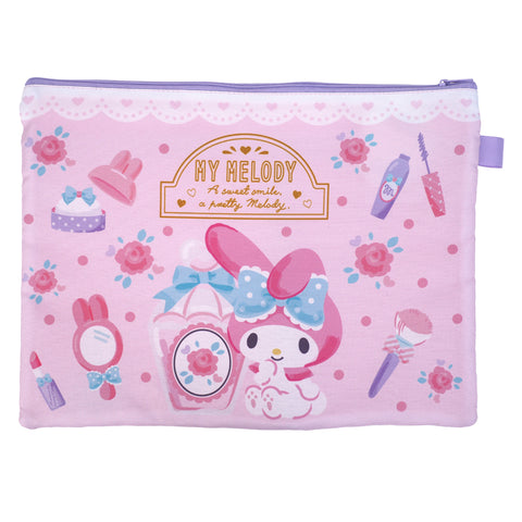 My Melody A4 3-Zipper Fabric Document Bag 布文件袋 (3拉鍊格)