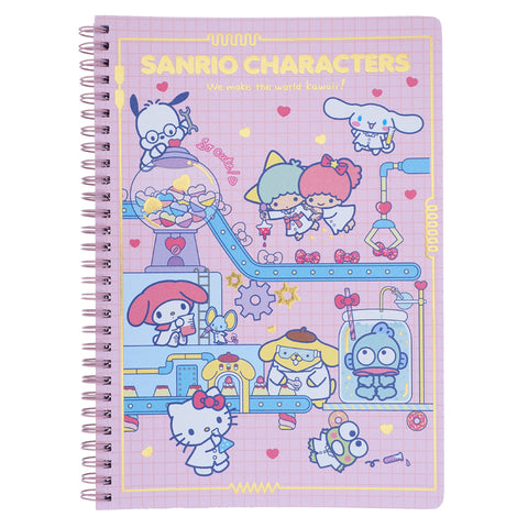 Mix Characters Pearl Paper Cover Wire O Note Book 珠光紙面燙金線圈簿