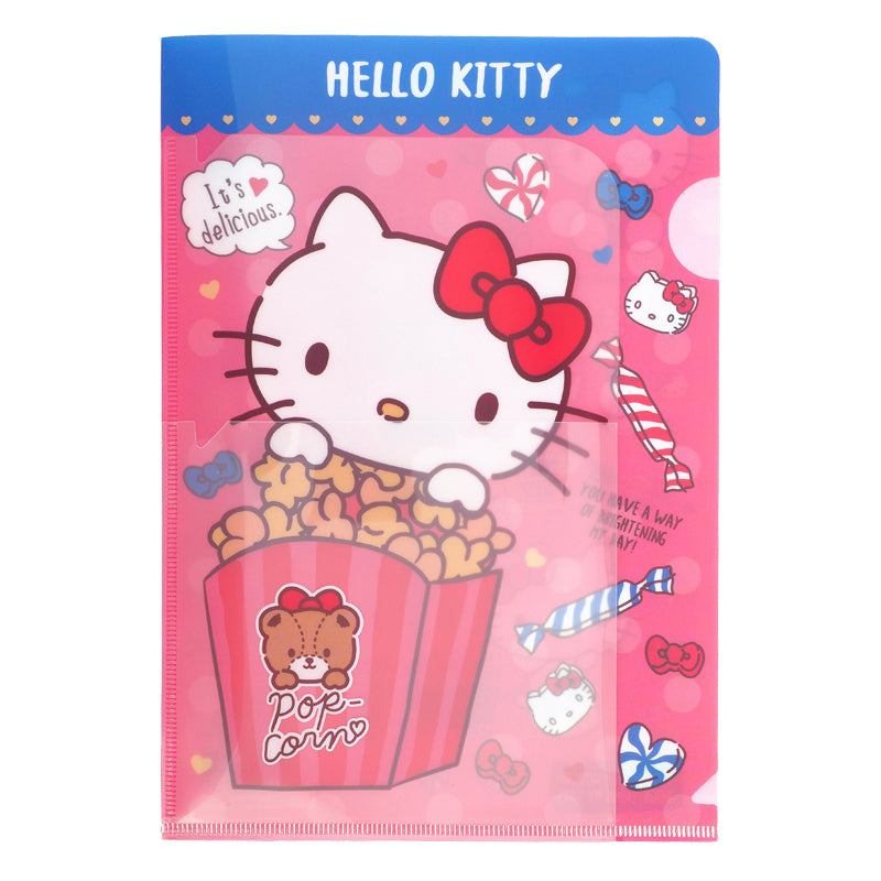 Hello Kitty A5 PP Slip-In File with Pocket 多用途A5文件夾