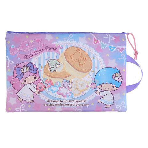 Little Twin Stars F4 Double Zipper Fabric Document Bag 雙拉鍊布文件袋
