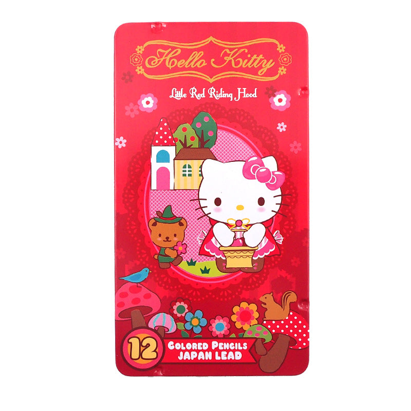 Hello Kitty 12 Colors Pencil Metal Box 12色鐵盒木顏色