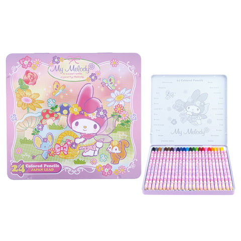 My Melody 24 Colors Pencil Metal Box 24色鐵盒木顏色