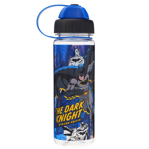 Batman 450ml Water Bottle w/ 2 Openings Lid 膠水樽 (雙開口設計)