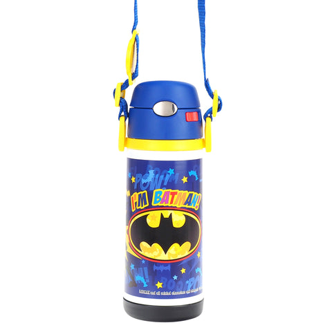 Batman Stainless Steel Vacuum Bottle W/ Straw & Shoulder Strap 不銹鋼保溫壺連吸管及肩帶