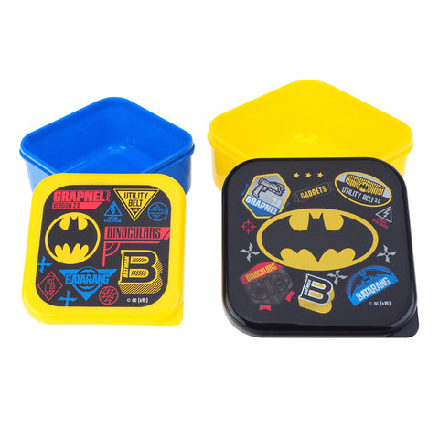 Batman Plastic Snack Box (Set of 2) 多用途膠盒 (2個裝)