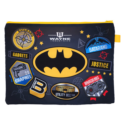 Batman A4 3-Zipper Fabric Document Bag 布文件袋 (3拉鍊格)