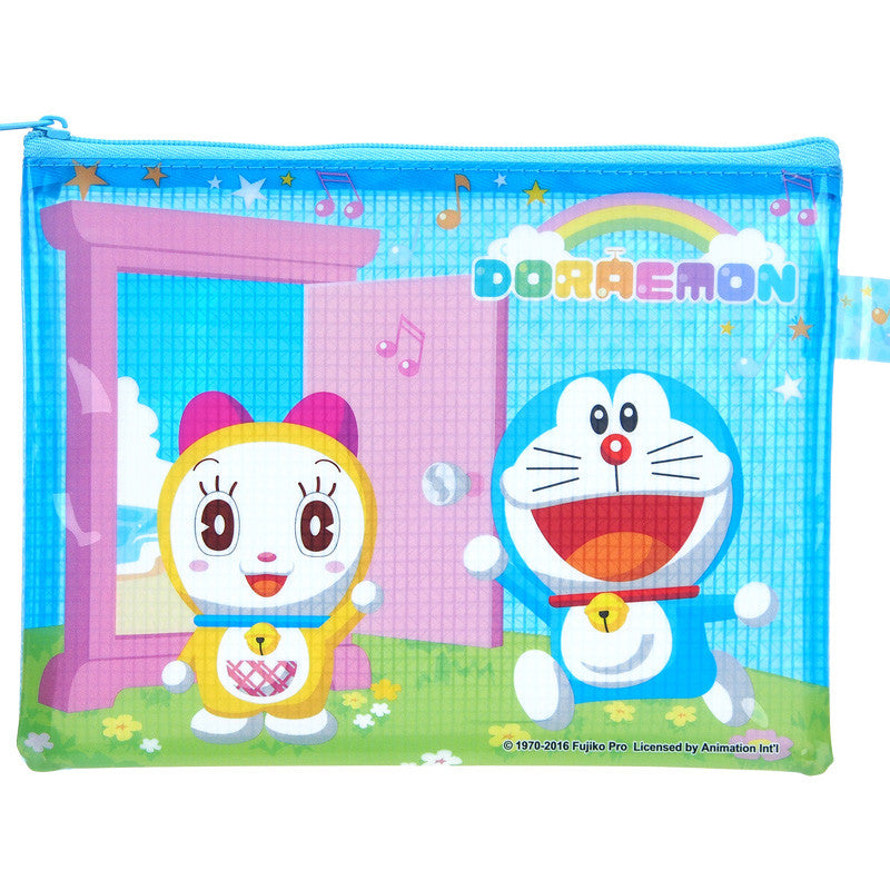 Doraemon PVC Document Mesh Bag (S) 文件袋(細)