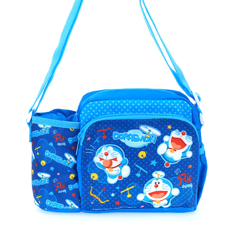 Doraemon Nylon Kids Shoulder Bag 小童尼龍斜揹袋連水樽格