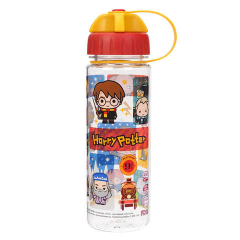 Harry Potter 450ml Water Bottle w/ 2 Openings Lid 膠水樽 (雙開口設計)