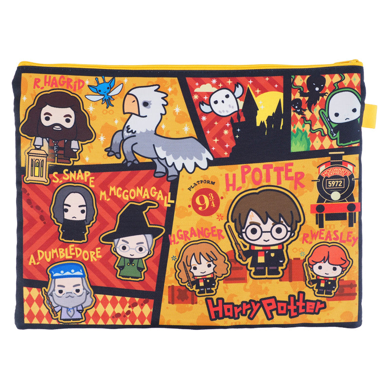 Harry Potter A4 3-Zipper Fabric Document Bag 布文件袋 (3拉鍊格)