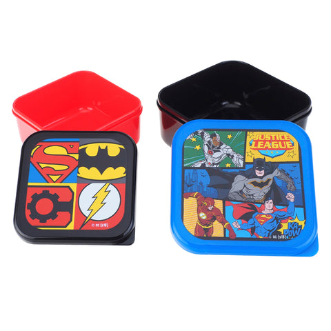 Justice League Plastic Snack Box (Set of 2) 多用途膠盒 (2個裝)