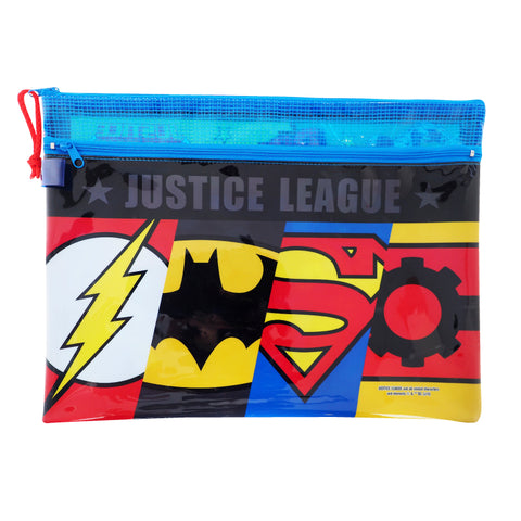 Justice League A4 PVC Mesh Bag (Large Size) 文件袋 (大)