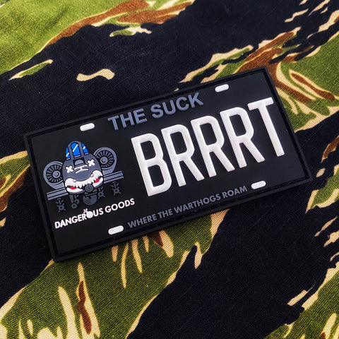 Dangerous Goods THE SUCK A10 Warthog BRRRT License Plate Morale Patch