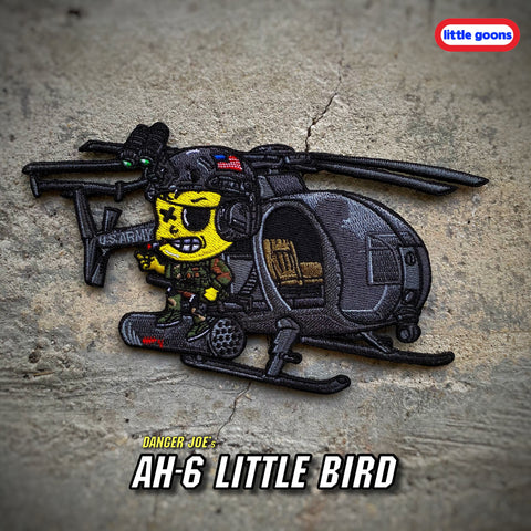 Little Goons™️ Danger Joe AH-6 Little Bird Helicopter Patch