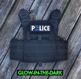 ZERO FUCKS DUCK THIN BLUE LINE PLATE CARRIER POLICE PATCH