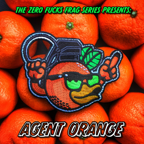 A Zero Fucks Frag ZFD Morale Patch - Agent Orange