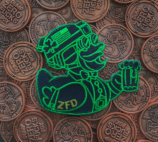 "ZERO FUCKS DUCK ST. PADDY'S ""ZFD"" 2018 MORALE PATCH - LUCKY DUCK 1.2"