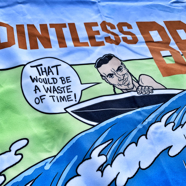 Dangerous Goods X Steve Nazar 'POINTLESS BREAK' Micro Fiber Beach Towel