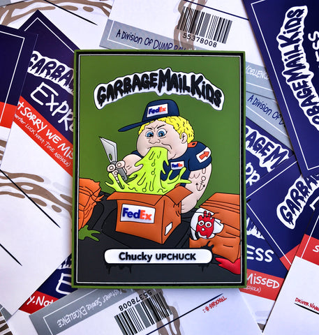 Garbage Mail Kids 3D PVC Morale Patch Series