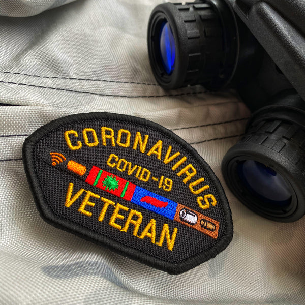 Dangerous Goods™️ Coronavirus Veteran Morale Patch - Black