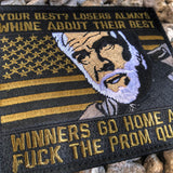 "The Rock ""Losers Always Whine About Their Best"" Morale Patch - American Flag Edition"
