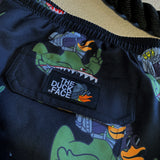 Zero Fucks Duck Flying Tigers Duck Shorts - Black