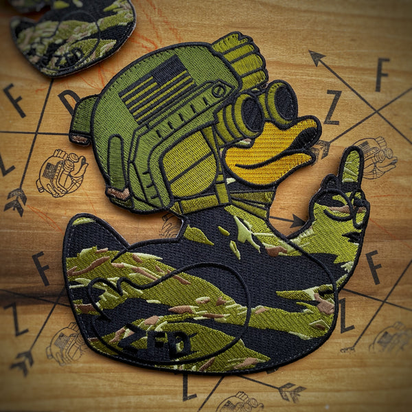 "ZFD 7"" Mega Duck Patch - Classified Tiger Camo"