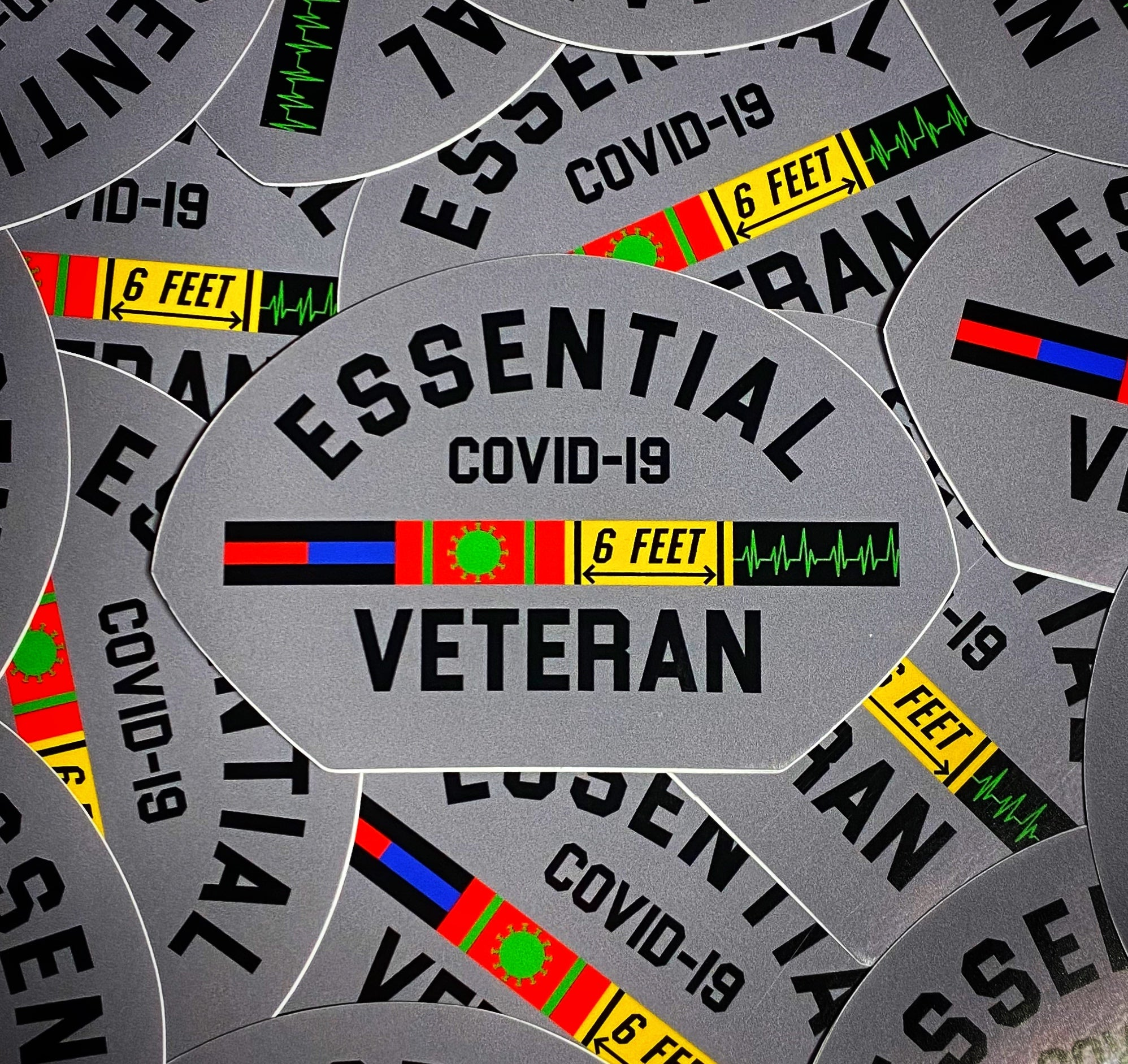 Dangerous Goods Essential Veteran Police Fire Medical Morale Sticker - Gunmetal Grey