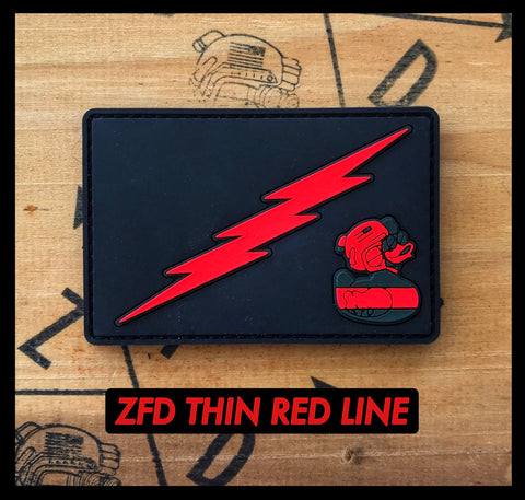 ZFD Thin Red Line PVC Fire Fighter Morale Patch