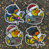 Zero Fucks Duck 'DUCK HARD: A ZFD Christmas Story' Stickers