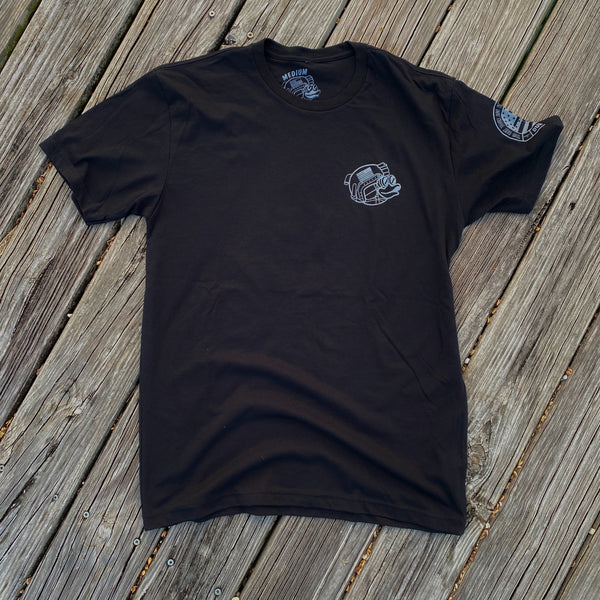 Zero Fucks Duck ZFD Classified T-Shirt - Warthog Grey Flying Tigers