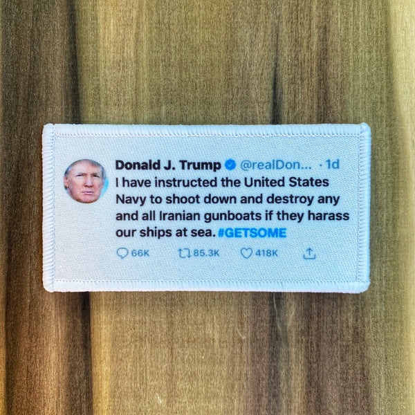 President Donald Trump Twitter War Morale Patch