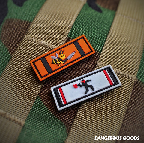 🔥 NEW 🔥 Dangerous Goods™️ Coronavirus Veteran PVC Military Ribbon Morale Patch Series 3 - 2 Options
